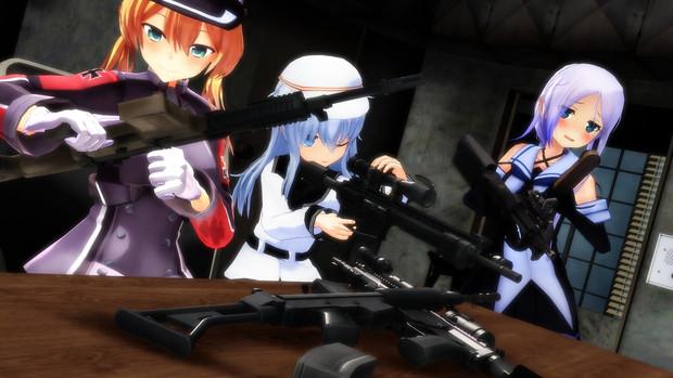 新しく支給された銃の確認