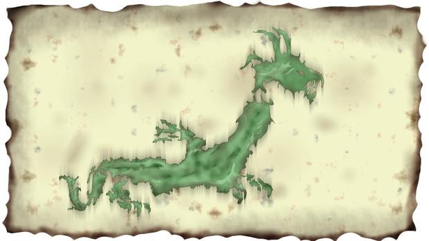 日本地図をドラゴン風にしてみました。