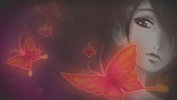 天倉澪と蝶の群れ