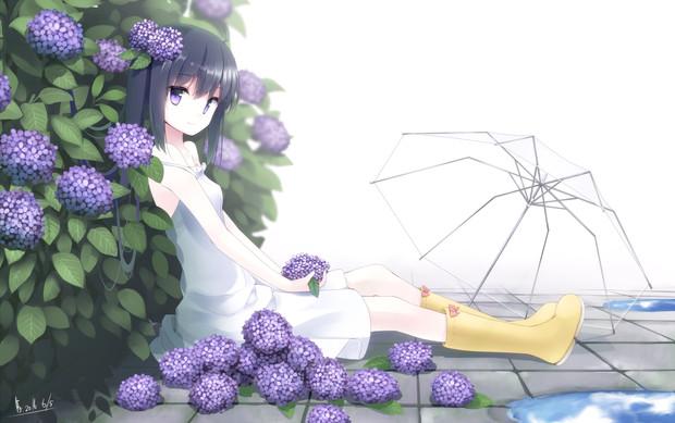 紫陽花にうもれて まかだみぁ さんのイラスト ニコニコ静画 イラスト