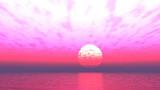 【MMDステージ配布】ピンクな朝焼け VV7【スカイドーム】