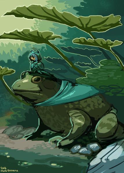 カエルとレインコート