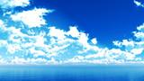 【MMDステージ配布】ライトブルーな雲 VV9【スカイドーム】