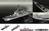 MMD用モブイージス駆逐艦2000セット