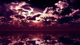 【MMDステージ配布】赤紫色の夕焼け WW3【スカイドーム】