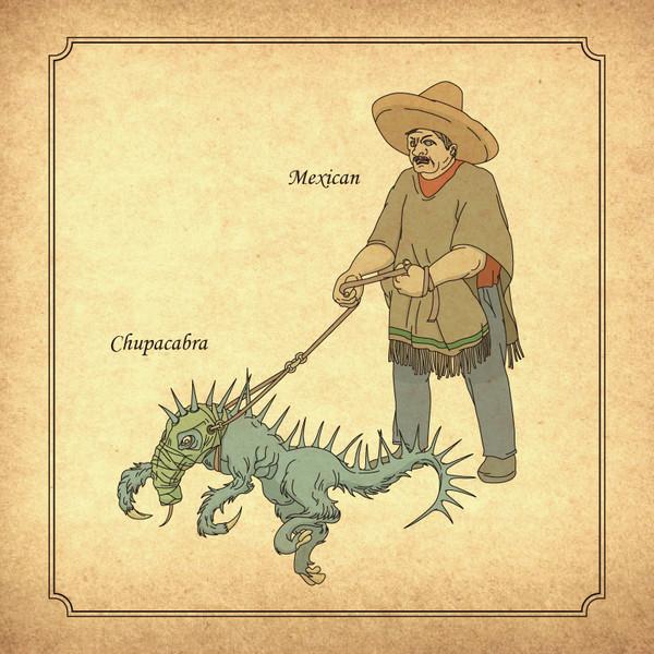 『チュパカブラとメキシコ人男性』