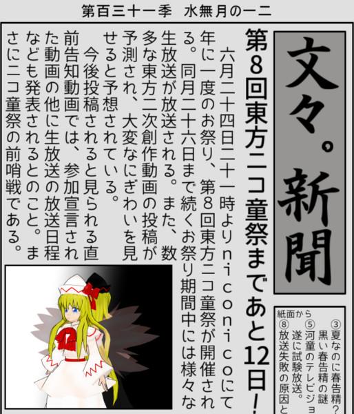 【第8回東方ニコ童祭支援】あと12日!