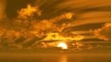 【MMDステージ配布】橙色の夕焼け WW4【スカイドーム】