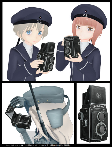 【MMDモデル配布】戦前の二眼レフカメラ v1.0