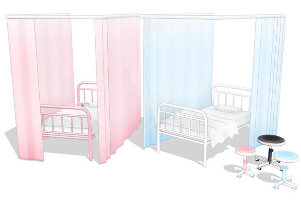 Mmd保健室のベッドver100モデル配布 あさぬ さんのイラスト