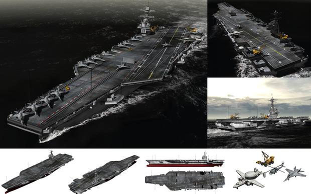 MMD用モブ航空母艦2016セット