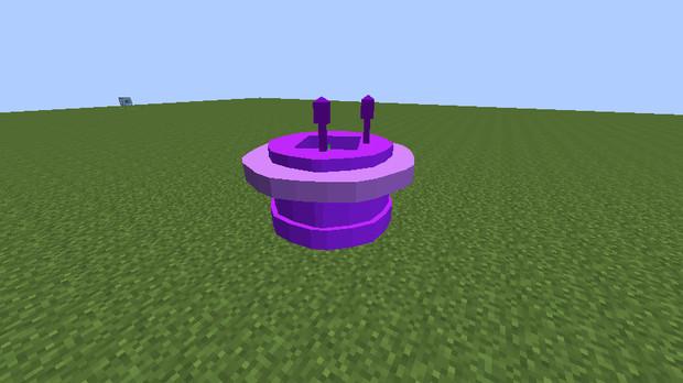 【minecraft】バイキンUFOっぽいもの作ってみた。【jointblock】
