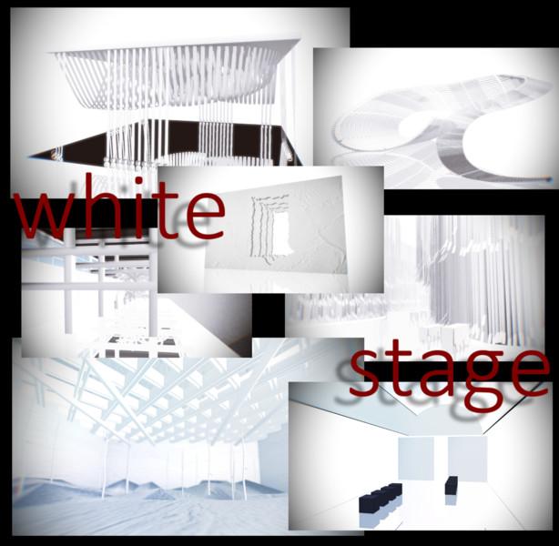 白いステージ