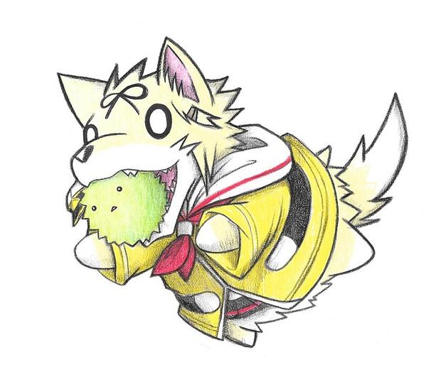 マリモ提督と梅雨限定・夕立犬