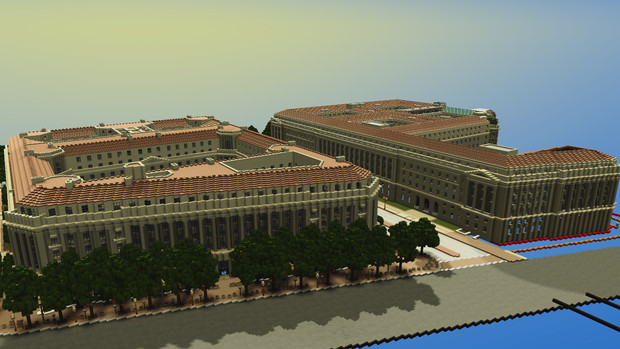 【Minecraft】アメリカ合衆国司法省とアメリカ合衆国内国際入庁【ワシントンDC再現】