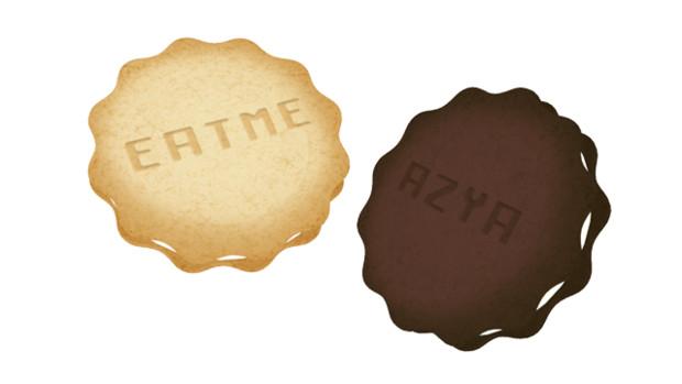 文字入りクッキー
