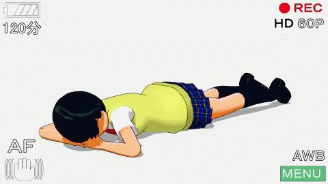 【MMD】女の子の撮影モーション(寝そべり編)