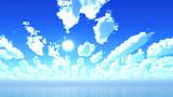 【MMDステージ配布】明るい青空 XX8【スカイドーム】