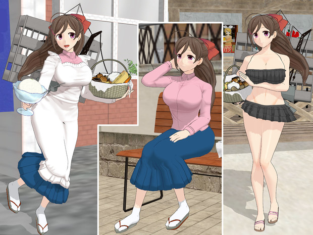 【MMD艦これ 】給糧艦間宮ver1.22【モデル配布】