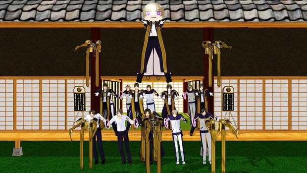 『【MMD刀剣乱舞】ワンチャン俺の主様っ!!【へしざんまい】』一万再生突破記念&広告御礼静止画
