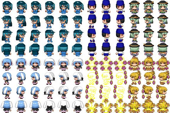RPGツクールMV用歩行グラフィック 東方キャラクターまとめ9