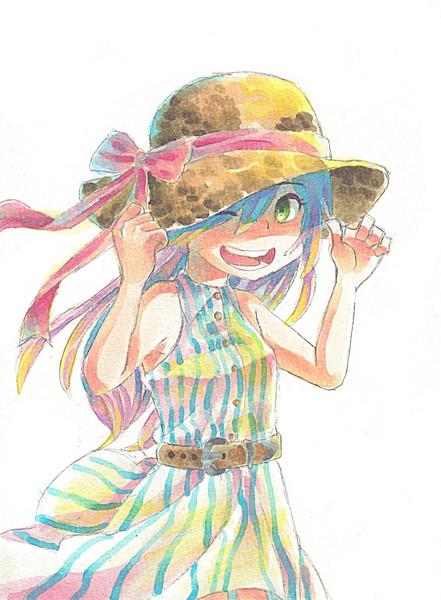麦わら帽子の少女 ぷく さんのイラスト ニコニコ静画 イラスト