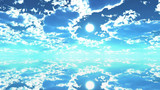 【MMDステージ配布】青い光の午後 ZZ9【スカイドーム】