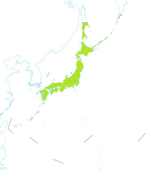 国境線付き正しき日本全図 1000*1125