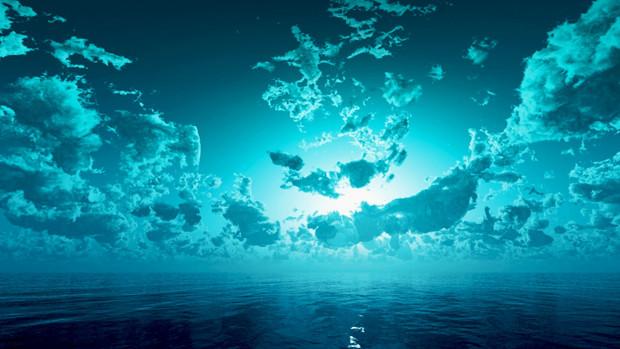 【MMDステージ配布】水色に光る空 TA3【スカイドーム】
