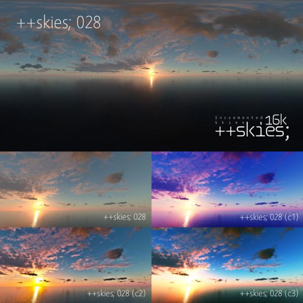 ++skies; 028 [16k8k/8k4kスカイドーム素材配布]
