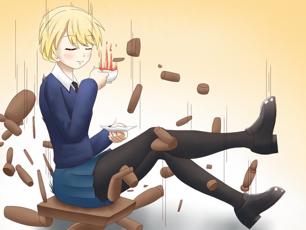 紅茶してたら椅子が突然押しつぶされて落下したダージリン様