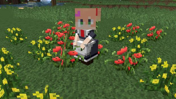 【minecraft】マクロスΔ フレイアスキン製作途中・・・