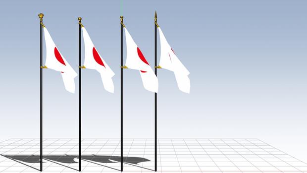 【MMDアクセサリ配布あり】旗 物理入り テクスチャ変更可