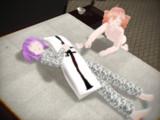 今度はテトさんと一緒にデフォ子さんの寝込みを襲ってみたw