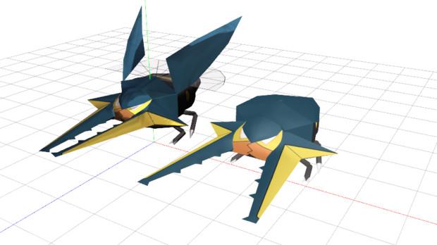 【MMD】クワガノンモデル配布します