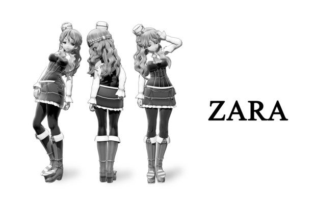 【MMD】ZARA ファッションブランド広告風
