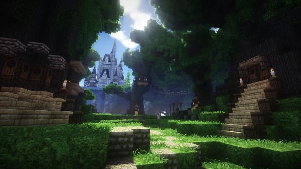 【Minecraft】シンデレラ城 オフショット