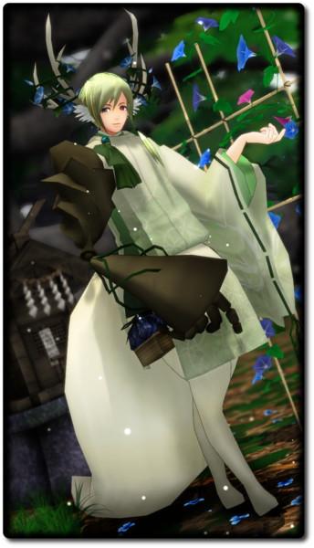 【モデル配布】雁音白緑【MMDオリキャラ】