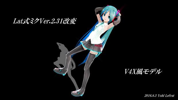 【モデル配布】Lat式ミク改変V4X風モデル