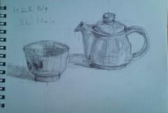 茶碗とポット