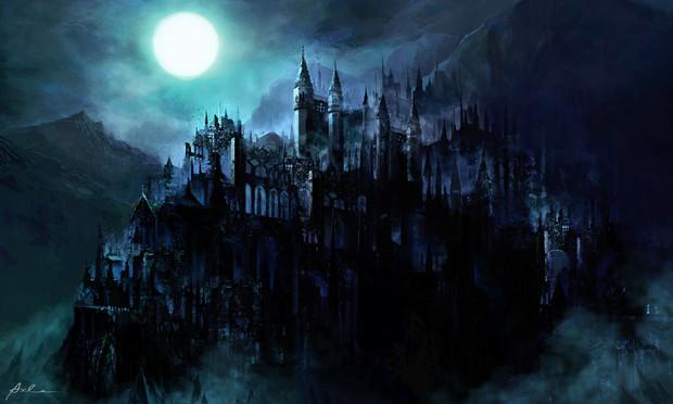月夜と廃城