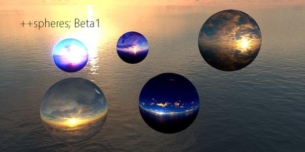 【空のボール】++spheres; β1【MMD用素材配布】