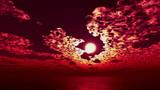 【MMDステージ配布】紅の夕焼け TE2【スカイドーム】