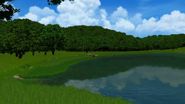 【MMD風景画祭】入り江の夏