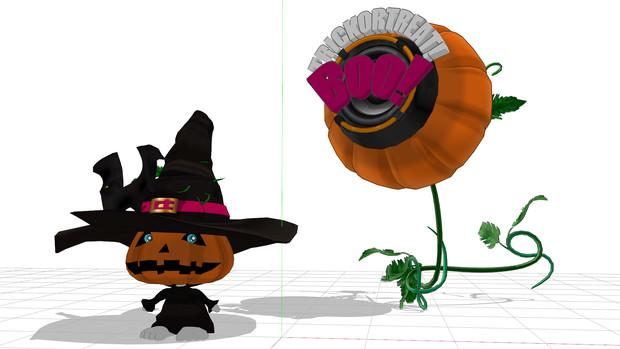 おばけかぼちゃ&かぼちゃスピーカー配布