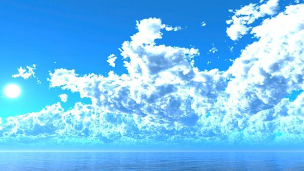 【MMDステージ配布】真夏の空 TE6【スカイドーム】