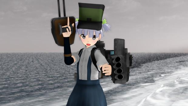 【MMDモデル配布】RGM式改変 駆逐艦 大潮 Ver2.1【MMD艦これ】