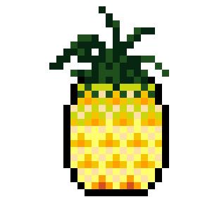 パイナップル ドット絵
