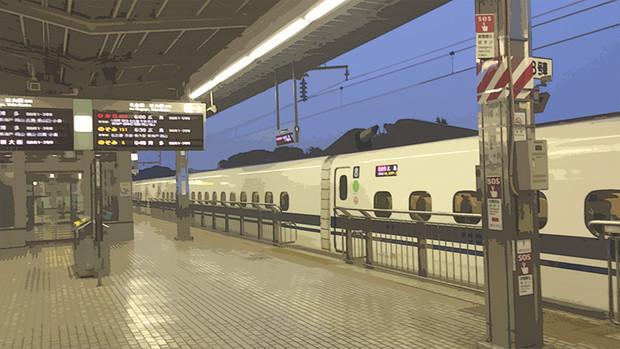 新幹線@早朝の新横浜駅 ひかりN700