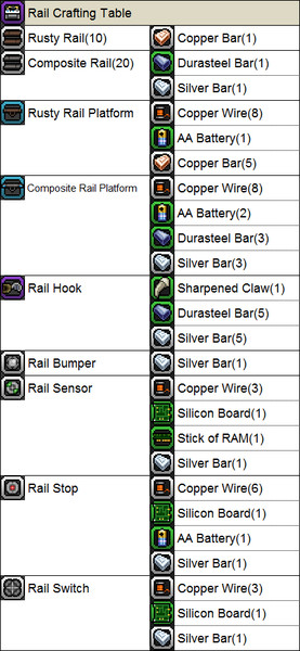 Starbound rail crafting table recipe tt starbound rail crafting table recipe greentooth Image collections